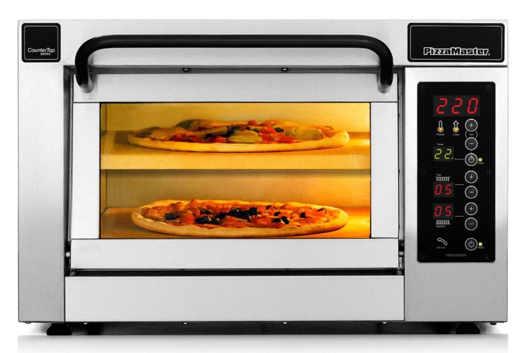 Four à pizza professionnel CounterTop 1 chambre de cuisson 2 niveaux