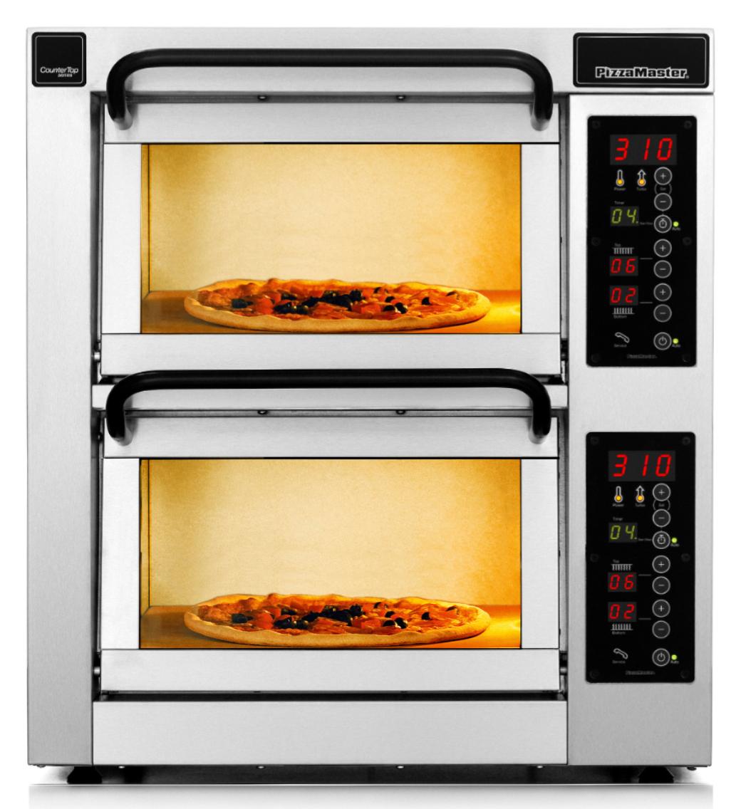 Four à pizza professionnel CounterTop 2 chambres de cuisson 2 niveaux