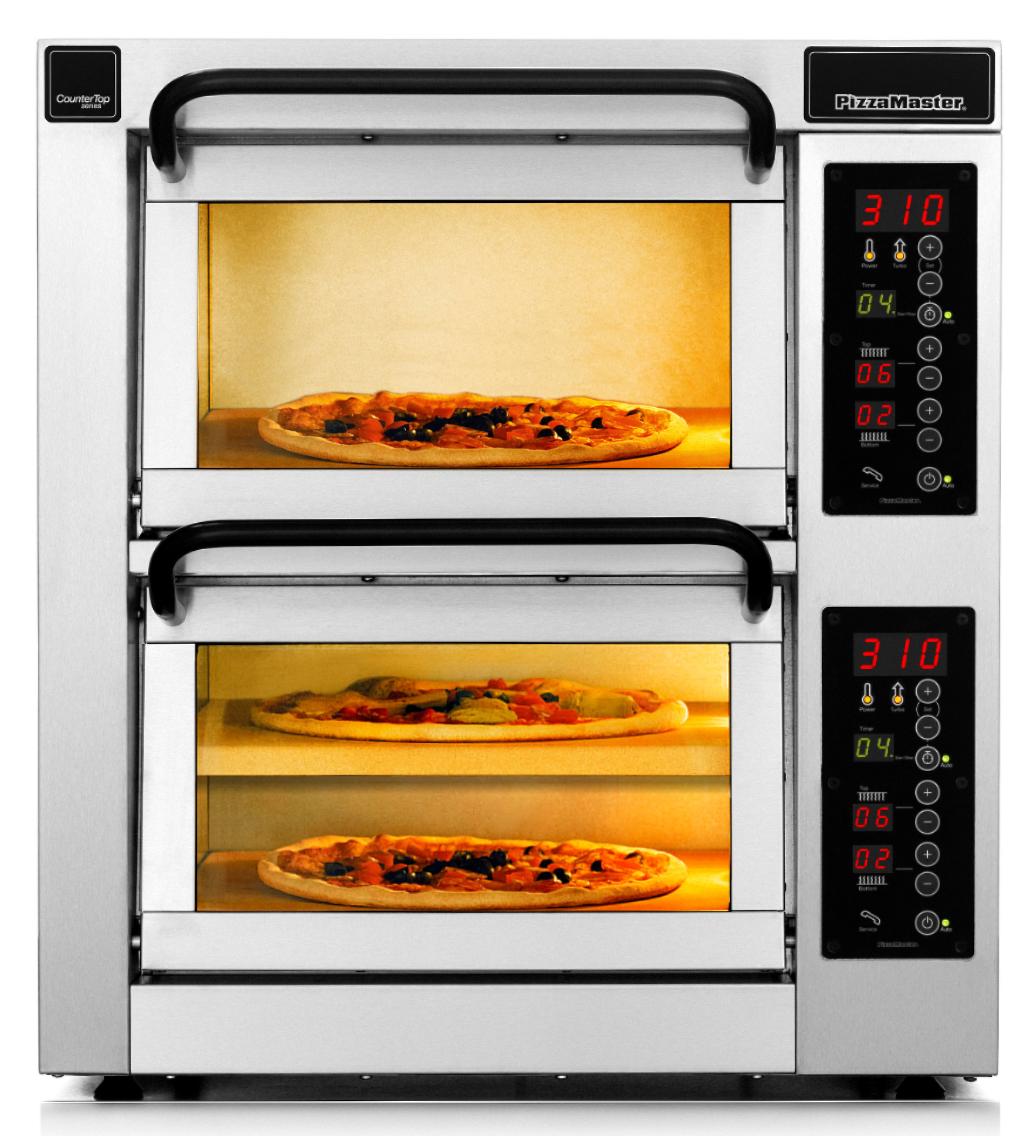 Four à pizza professionnel CounterTop 2 chambres de cuisson 3 niveaux