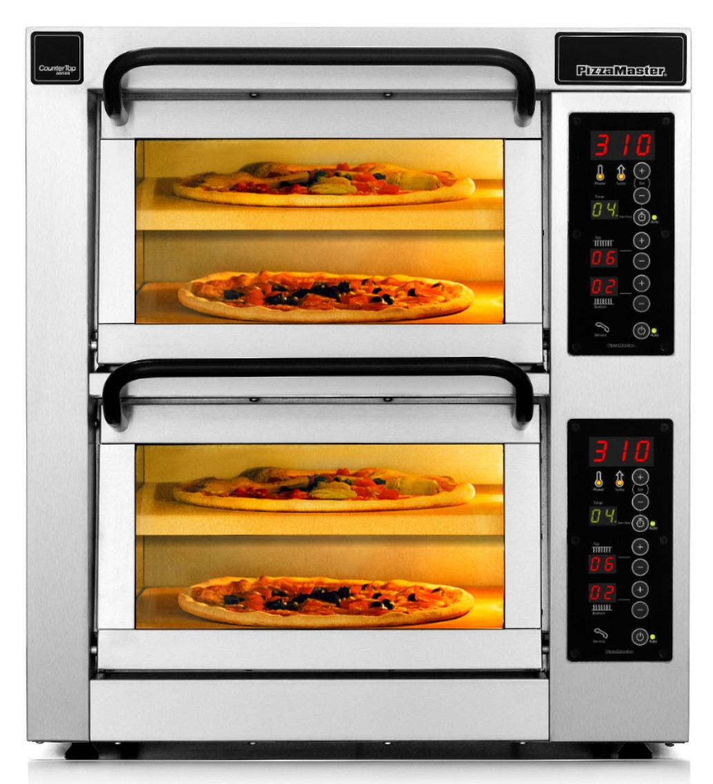 Four à pizza professionnel CounterTop 2 chambres de cuisson 4 niveaux