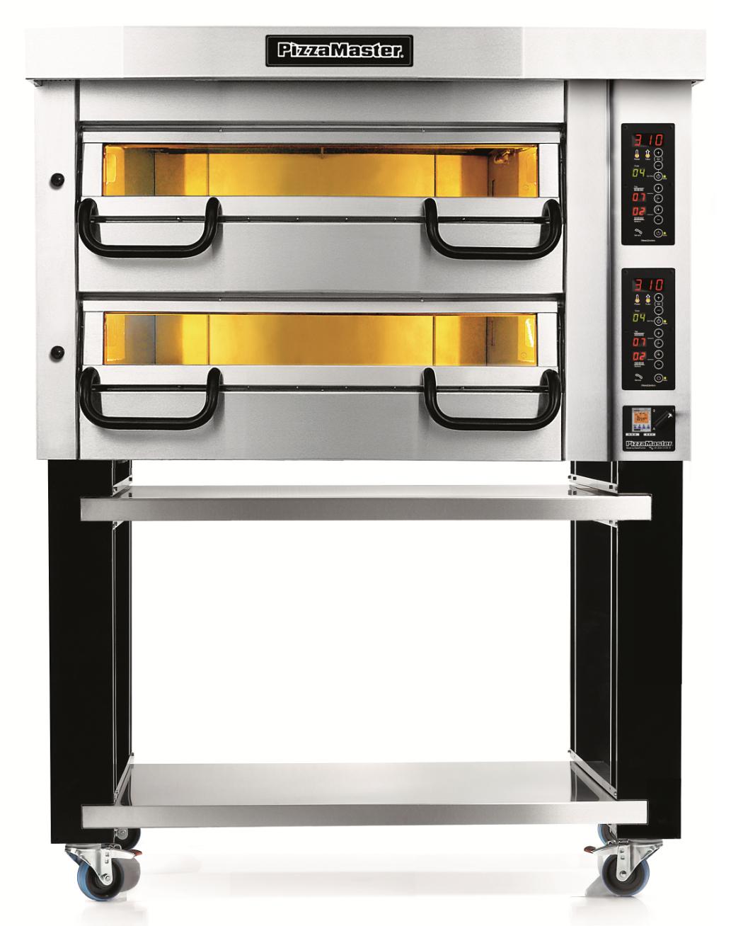 Four à pizza professionnel modulaire 2 chambres de cuisson