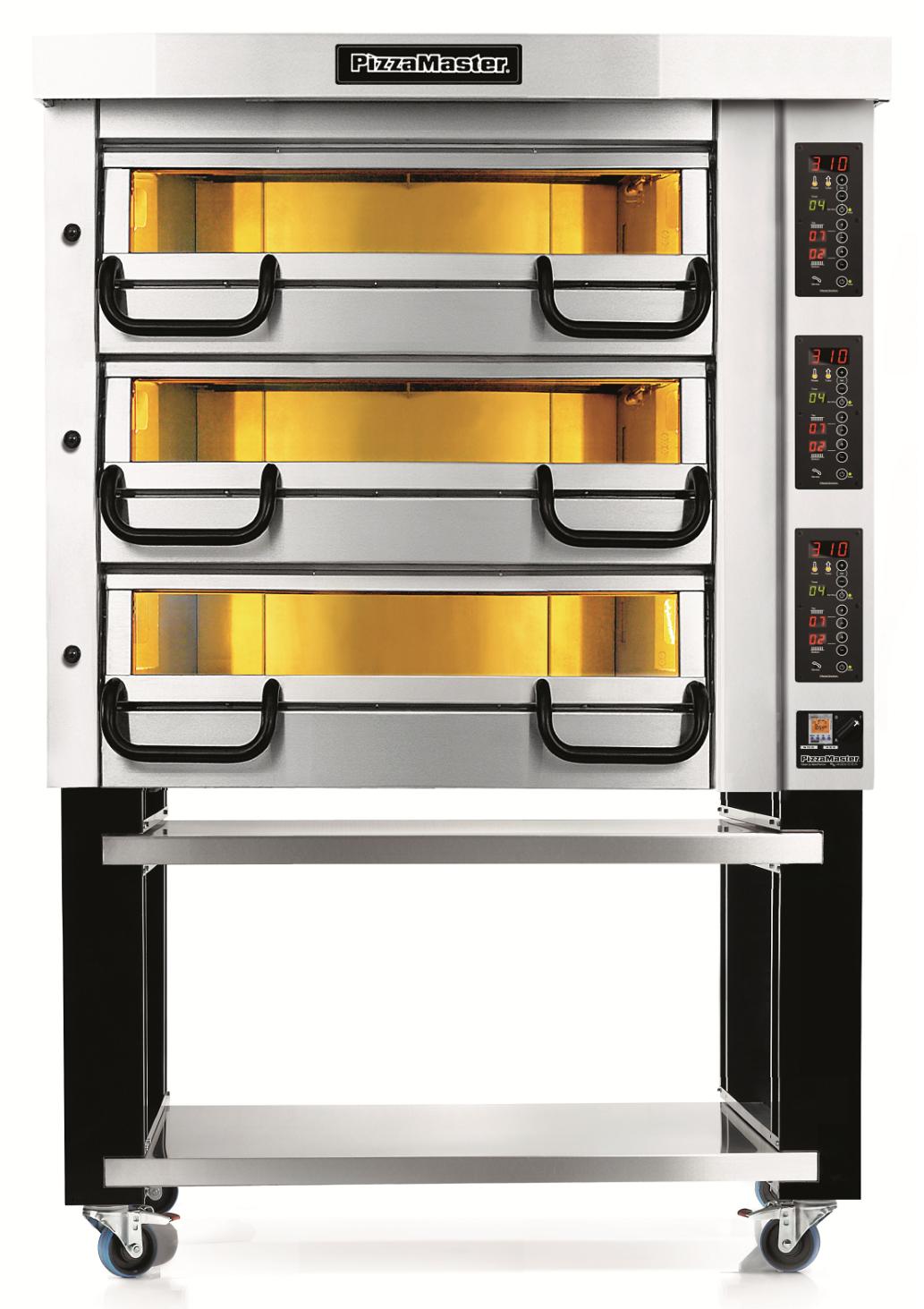 Four à pizza professionnel modulaire 3 chambres de cuisson