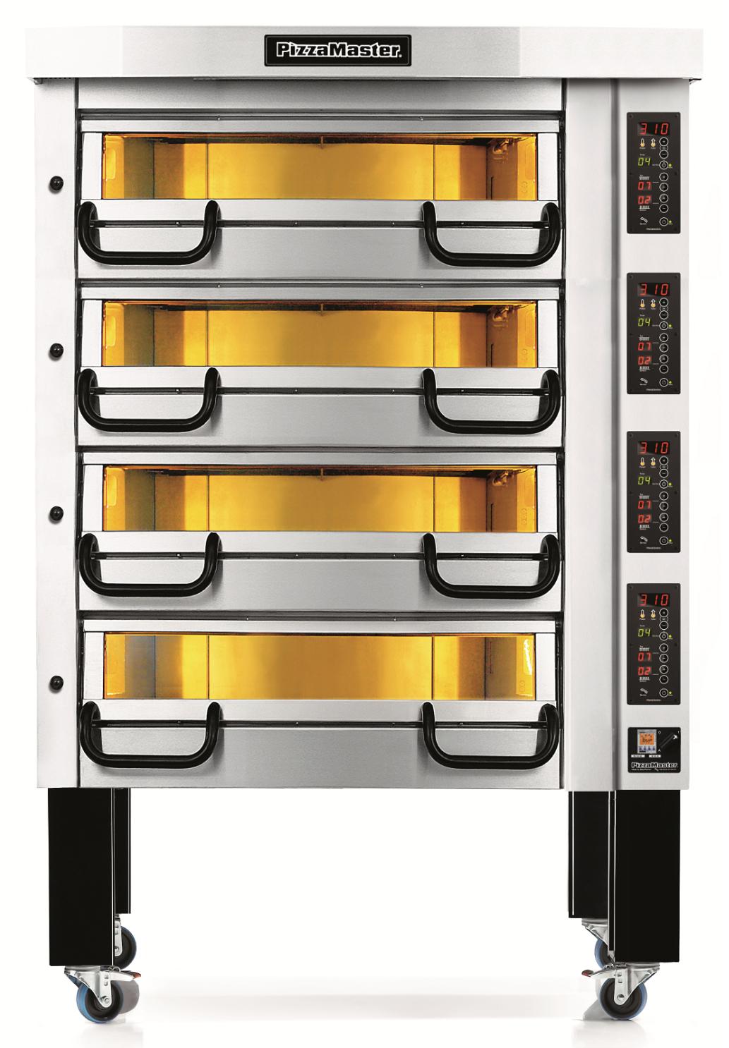 Four à pizza professionnel modulaire 4 chambres de cuisson