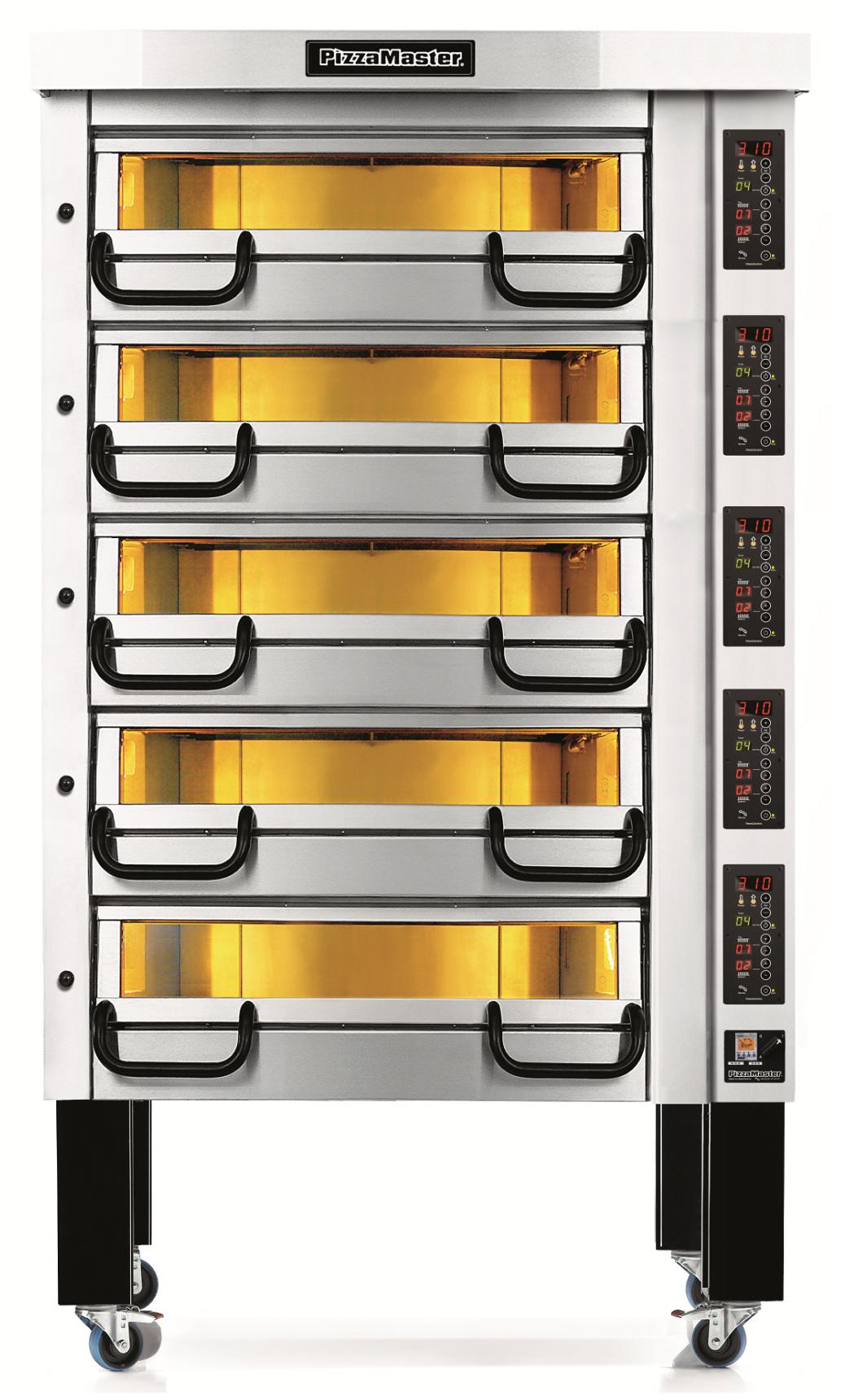 Four à pizza professionnel modulaire 5 chambres de cuisson